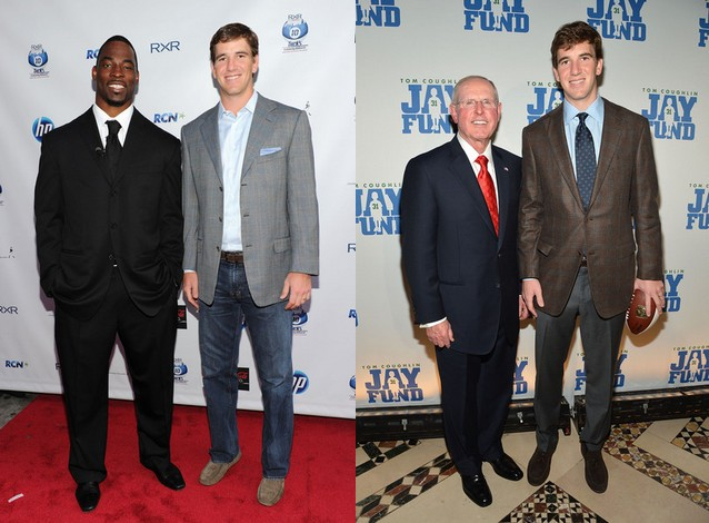 Eli Manning's height, weight and body measurements