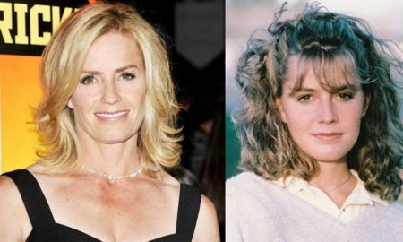 Elisabeth Shue's eyes and hair color