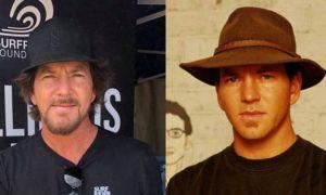 Eddie Vedder's eyes and hair color