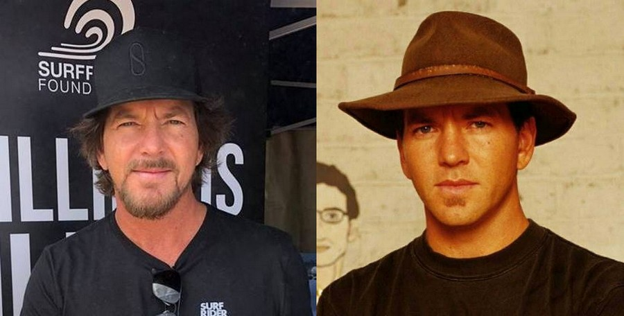 Eddie Vedder's eyes and hair color