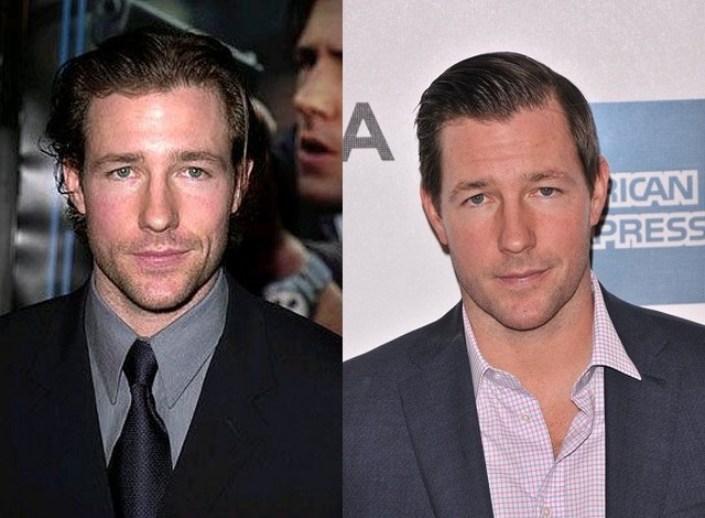 Edward Burns' eyes and hair color