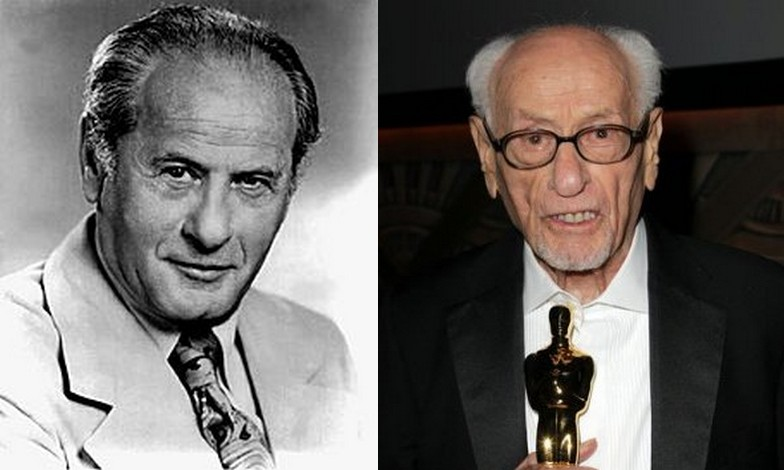 Eli Wallach's eyes and hair color