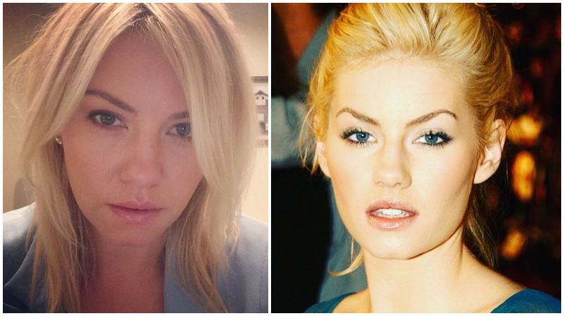 Elisha Cuthbert's eyes and hair color