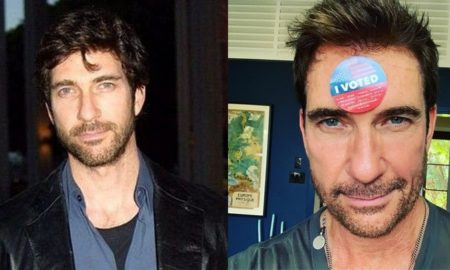 Dylan McDermott's eyes and hair color