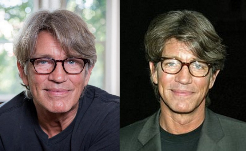 Eric Roberts' eyes and hair color