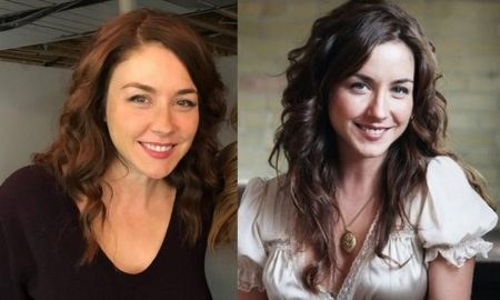 Erin Karpluk's eyes and hair color