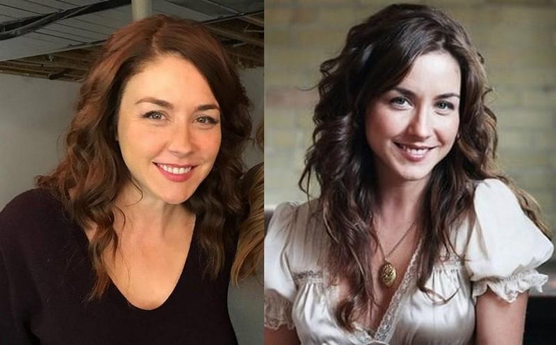 Erin Karpluk's eyes and hair color