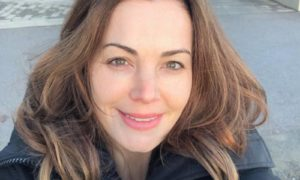 Erica Durance's eyes and hair color