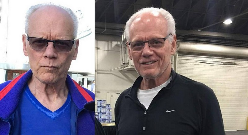 Fred Dryer's eyes and hair color