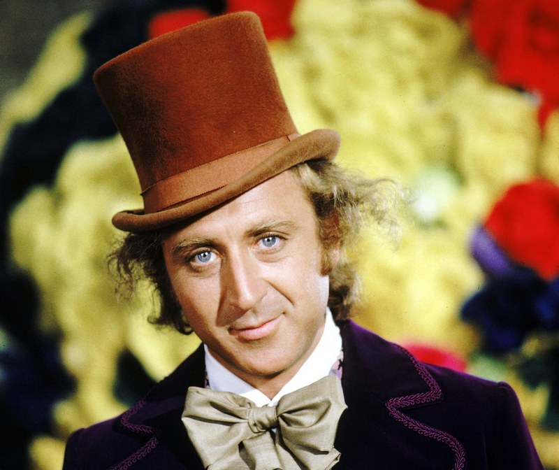 Gene Wilder's eyes and hair color