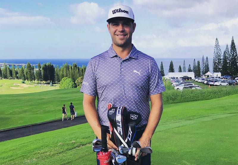 Gary Woodland's eyes and hair color