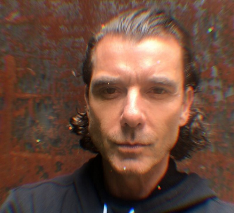 Gavin Rossdale's eyes and hair color