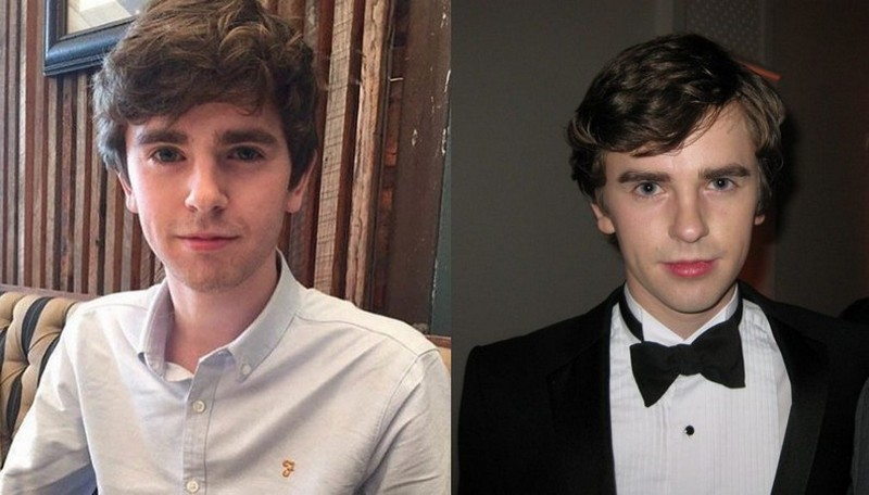 Freddie Highmore's eyes and hair color