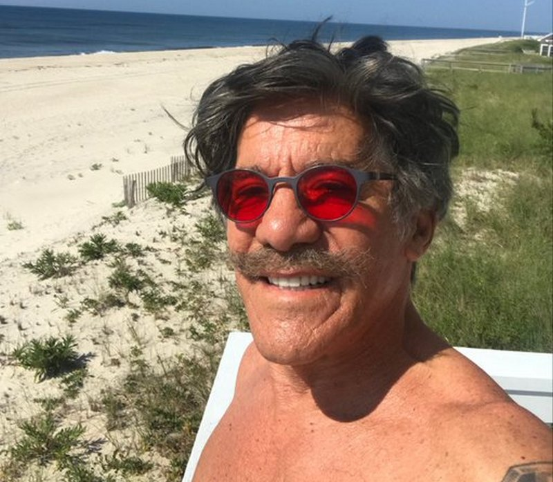 Geraldo Rivera's eyes and hair color