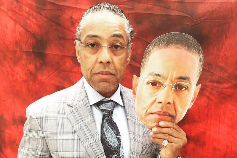 Giancarlo Esposito's eyes and hair color